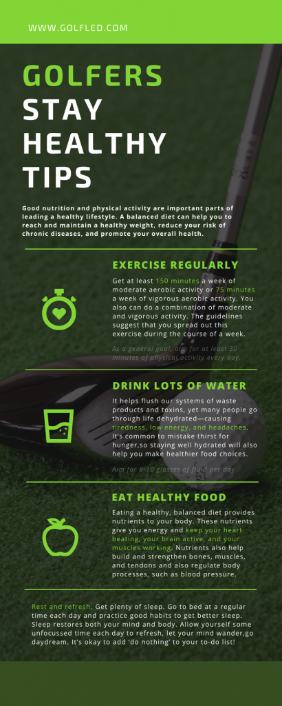 healthy tips for golfers